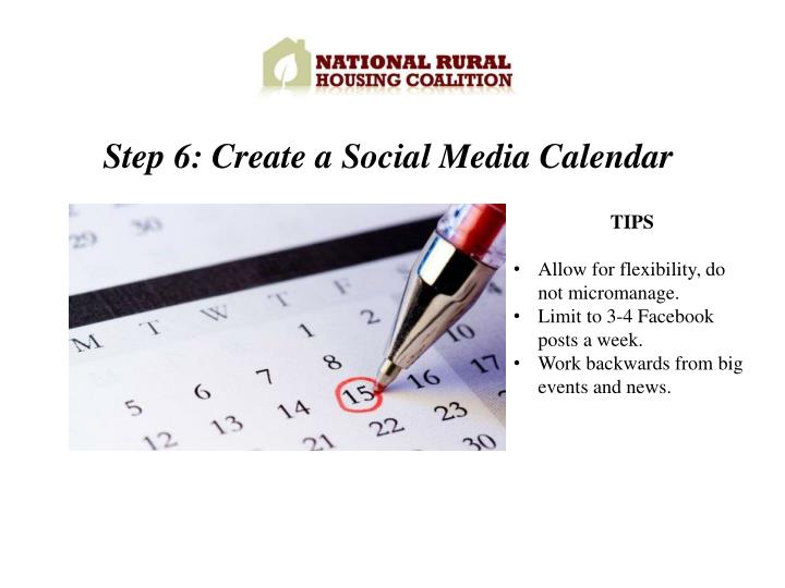 Step 6: Create a Social Media Calendar