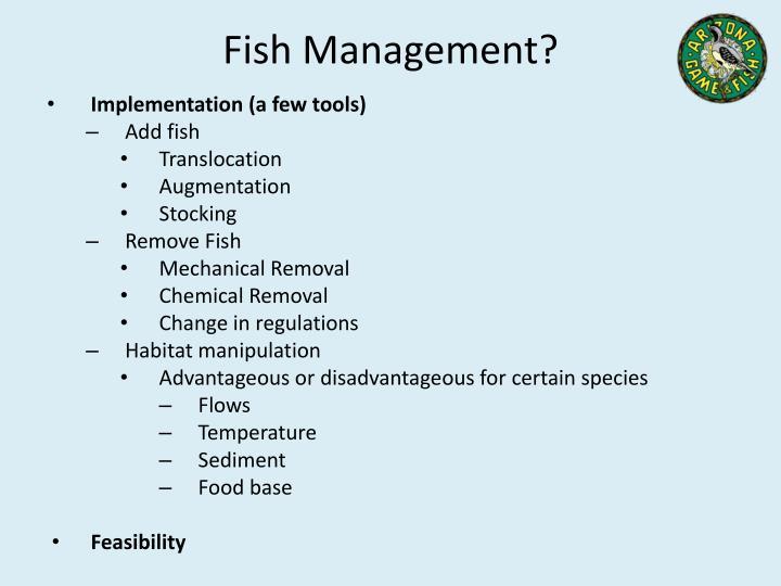 Fish Management?