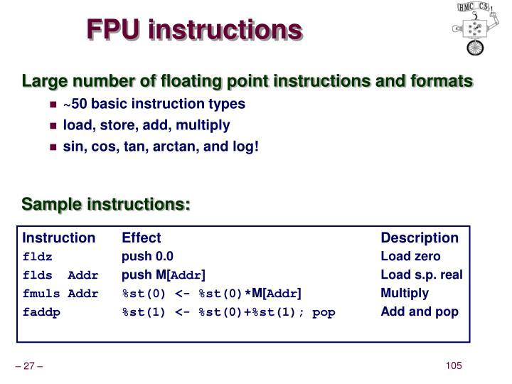 FPU instructions