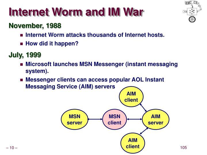 Internet Worm and IM War