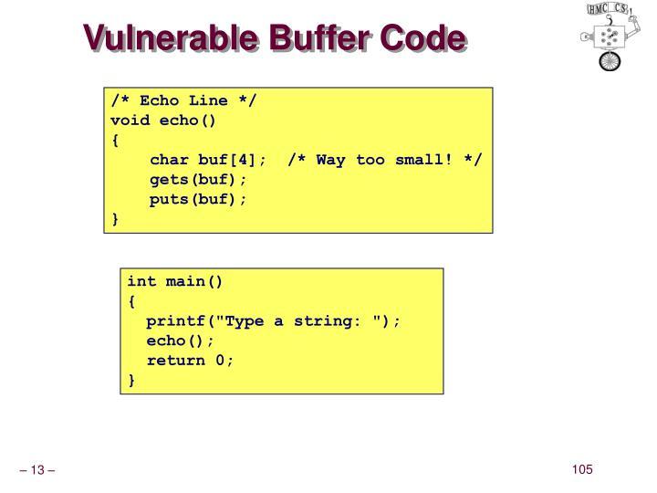Vulnerable Buffer Code