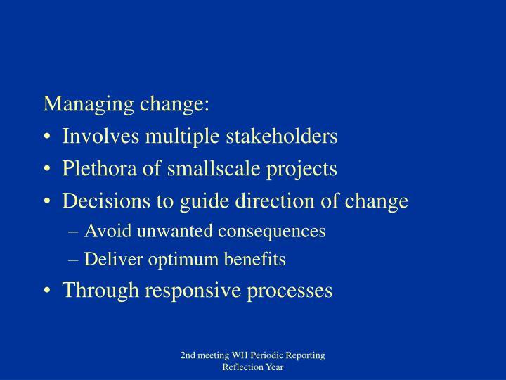 Managing change: