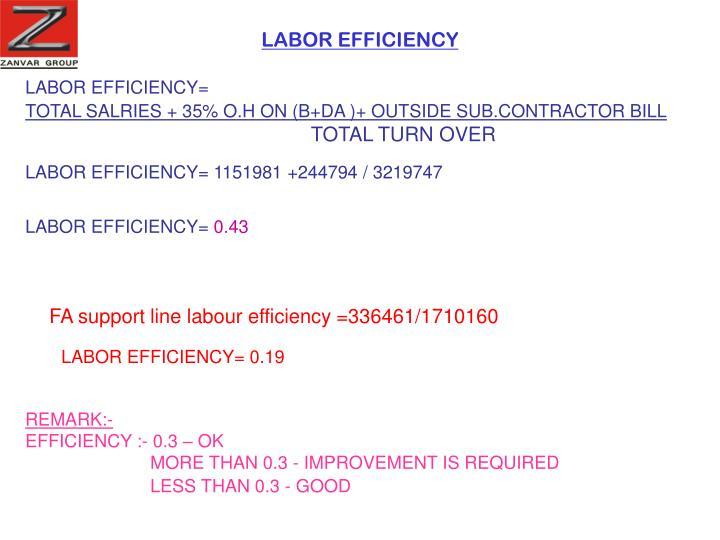 LABOR EFFICIENCY