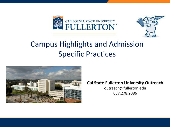 campus highlights and admission specific practices n.