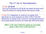 the 2 nd law of thermodynamics
