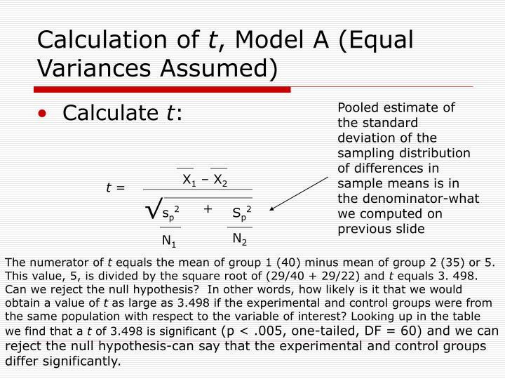 Calculation of