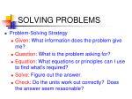 solving problems