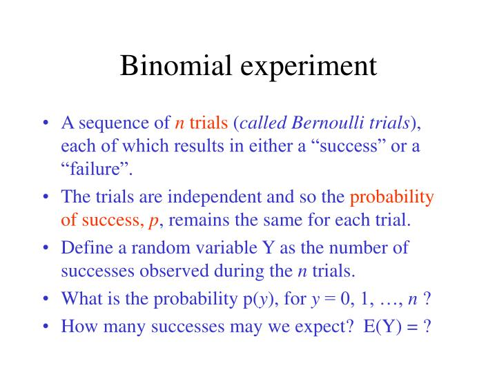 Binomial experiment
