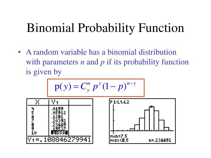 Binomial Probability Function