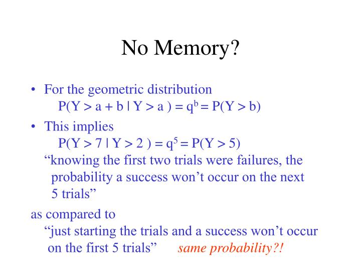 No Memory?