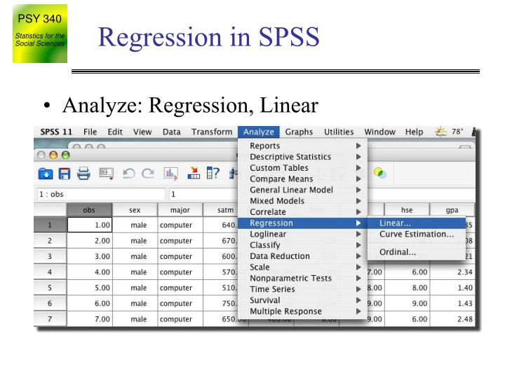 Regression in SPSS