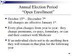 annual election period open enrollment
