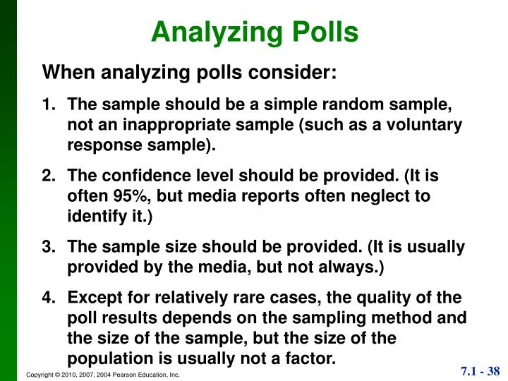 Analyzing Polls