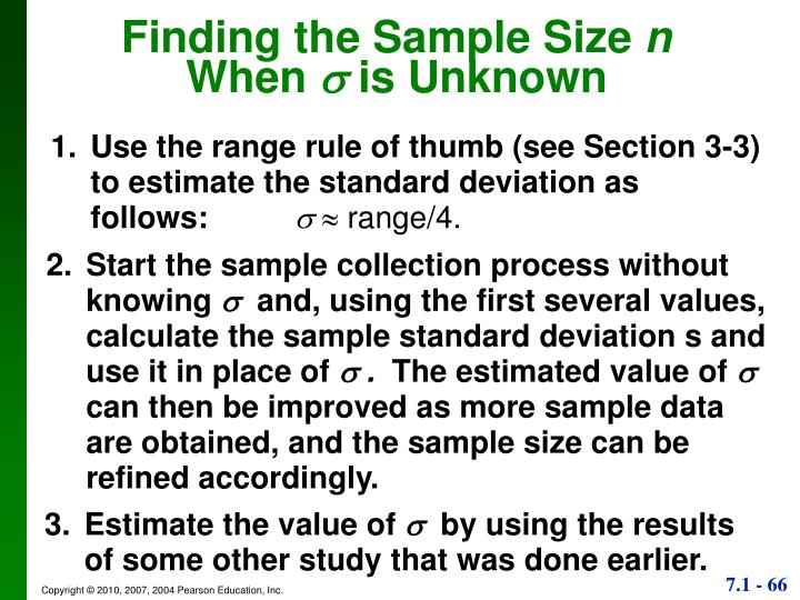 Finding the Sample Size