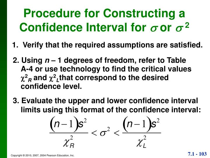 Procedure for Constructing a