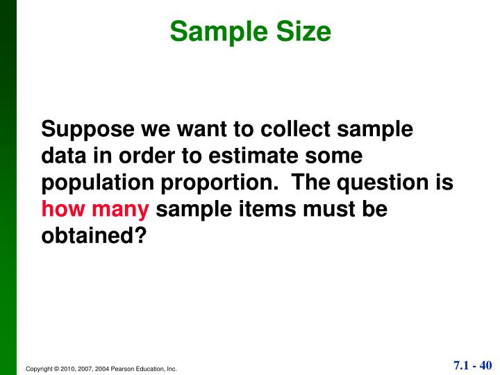 Sample Size