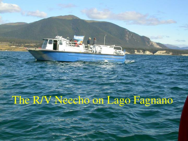 The R/V Neecho on Lago Fagnano