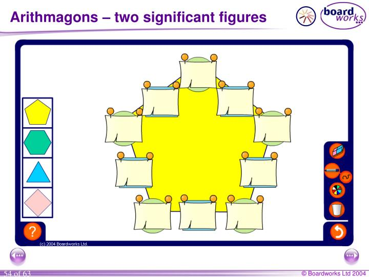 Arithmagons – two significant figures