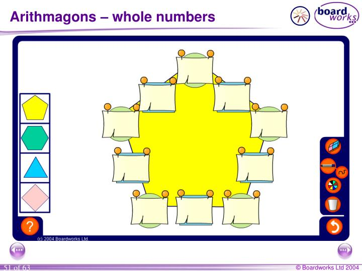 Arithmagons – whole numbers