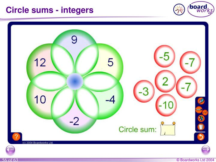 Circle sums - integers