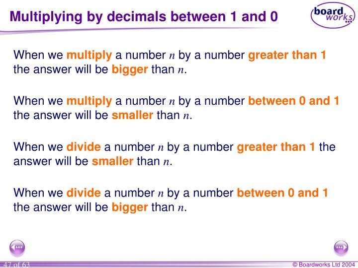 Multiplying by decimals between 1 and 0