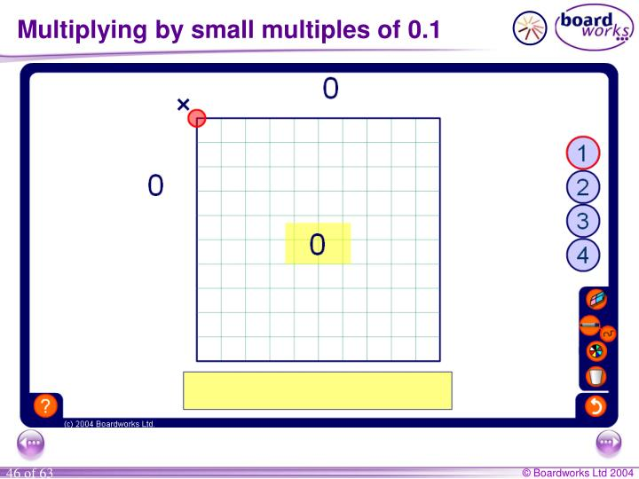 Multiplying by small multiples of 0.1