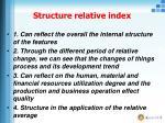 structure relative index