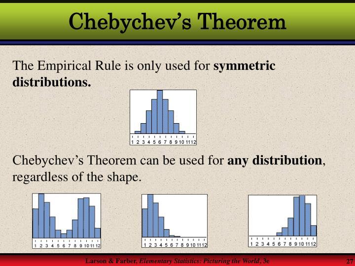 Chebychev's Theorem