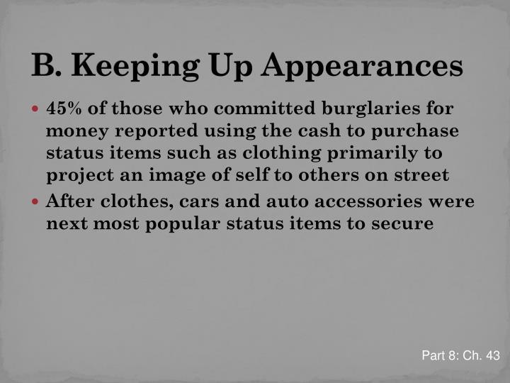 B. Keeping Up Appearances