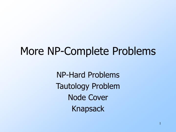 more np complete problems n.