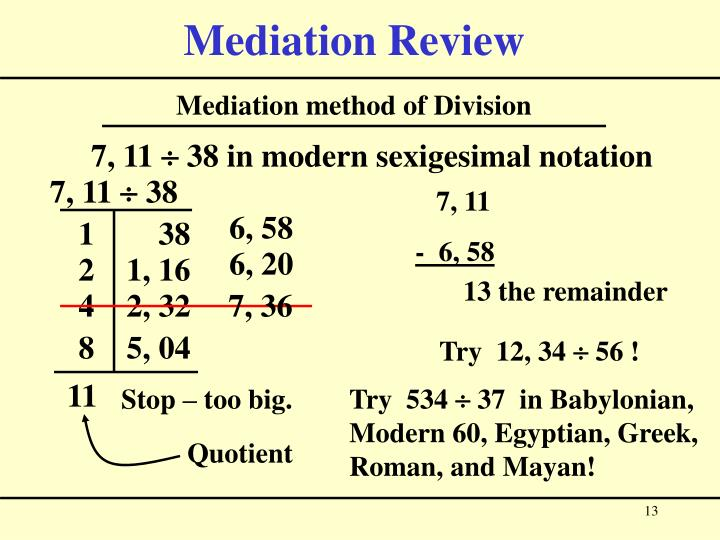 Mediation Review