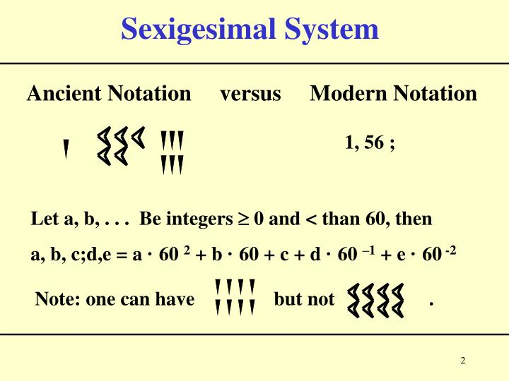 Sexigesimal system