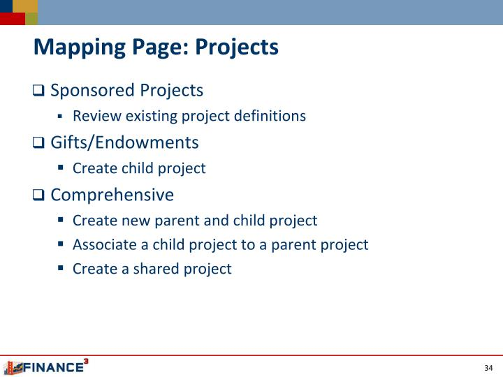 Mapping Page: Projects
