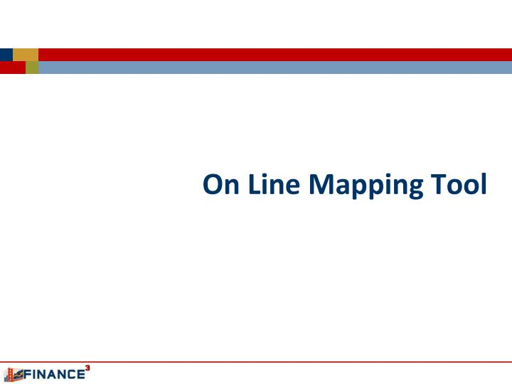 On line mapping tool