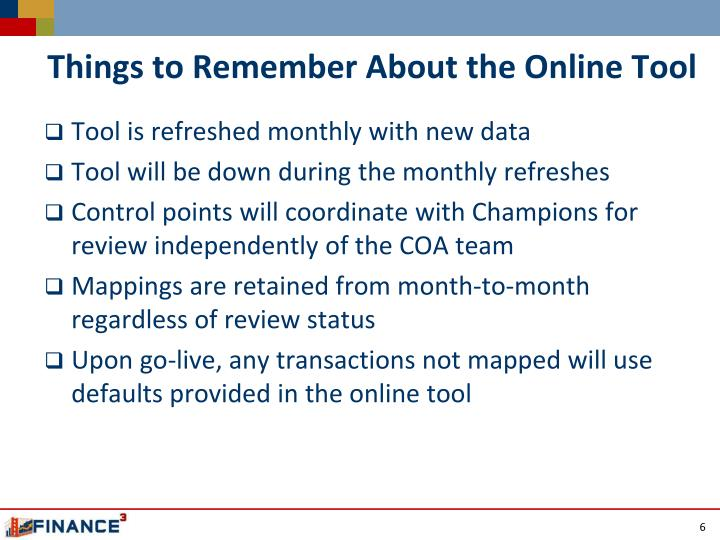 Things to Remember About the Online Tool