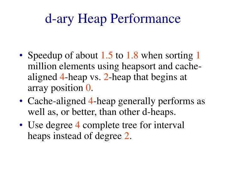 d-ary Heap Performance
