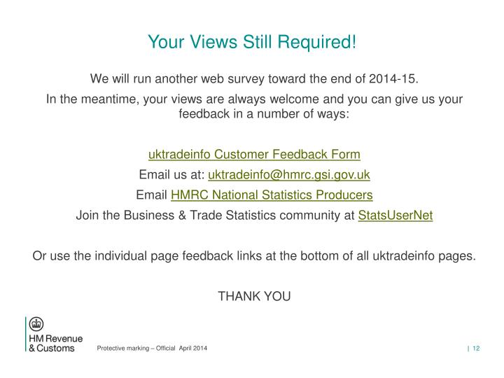 Your Views Still Required!