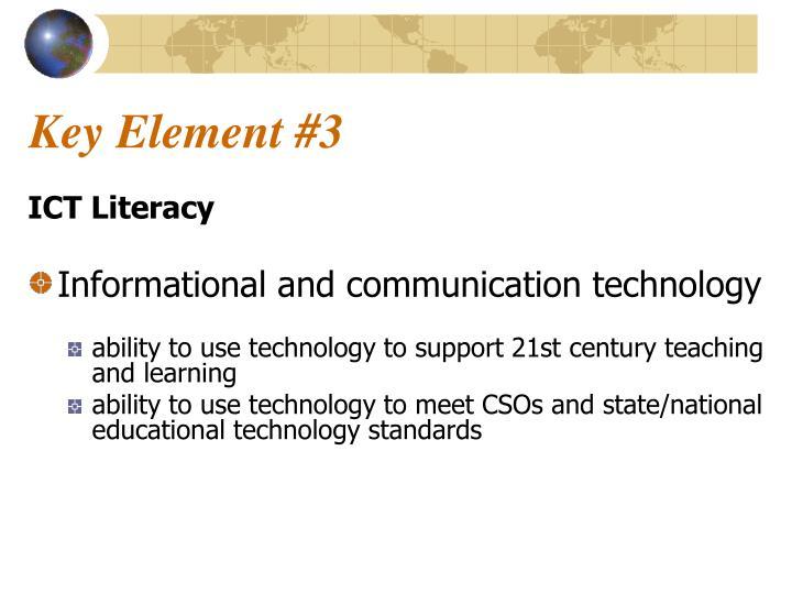 Key Element #3