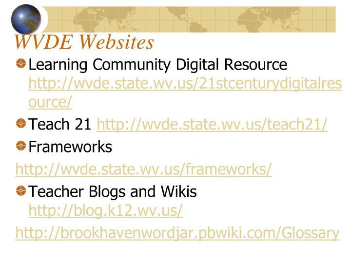 WVDE Websites