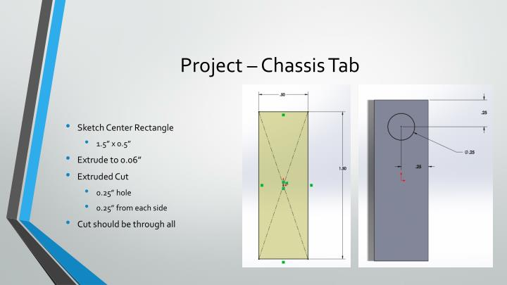 Project – Chassis Tab