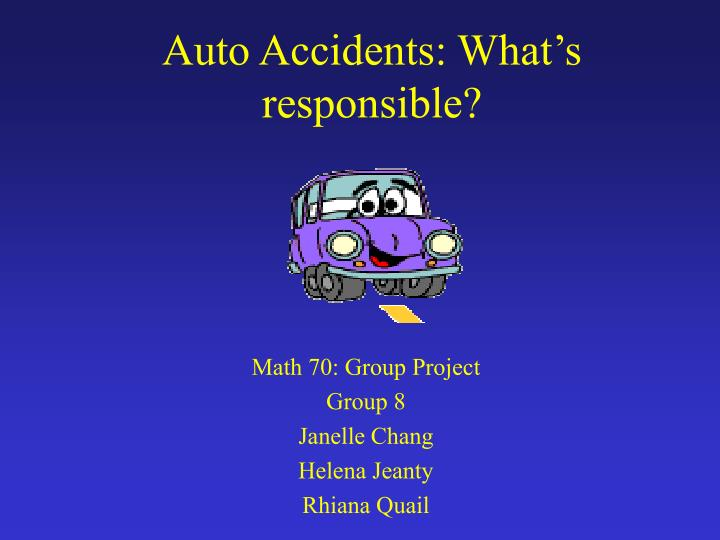 auto accidents what s responsible