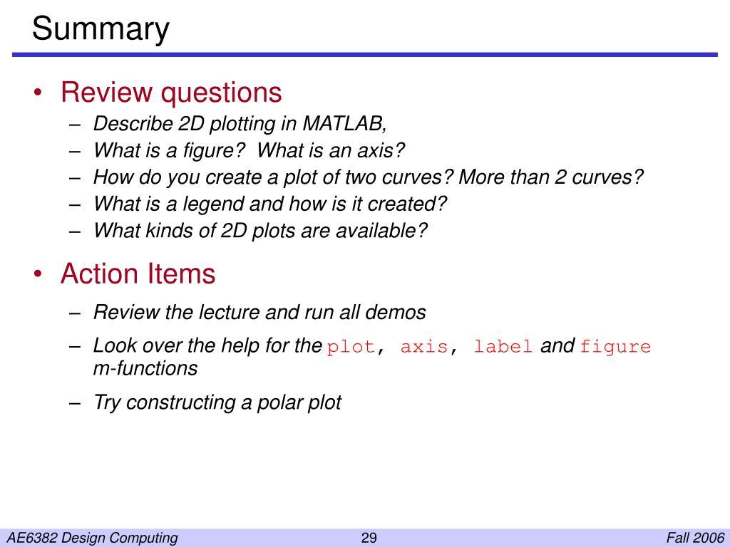 PPT - 2D Plotting in Matlab PowerPoint Presentation - ID:5568546