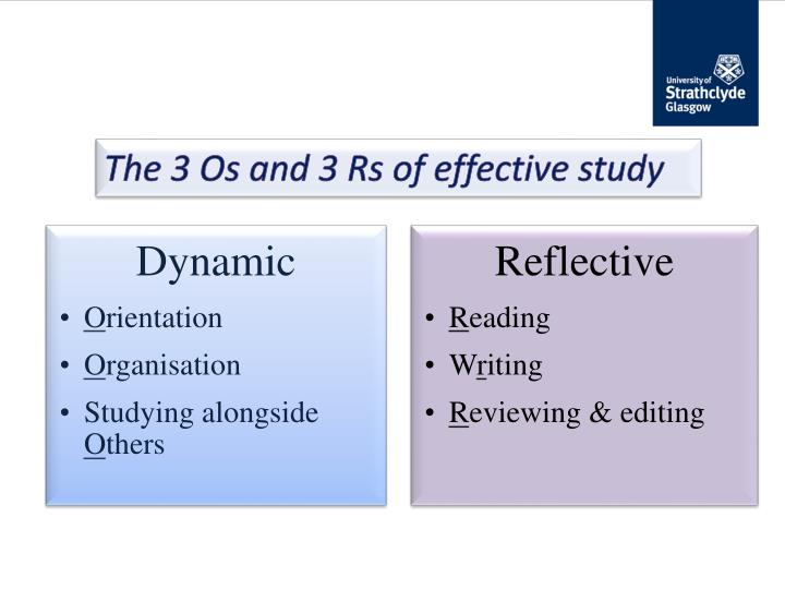 The 3 Os and 3 Rs of effective study