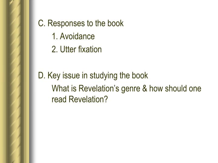C. Responses to the book