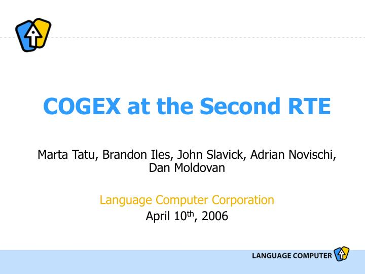 cogex at the second rte