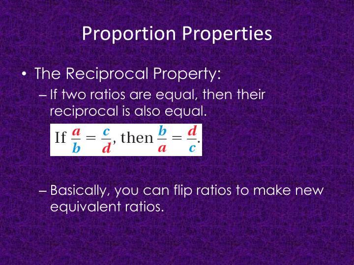 Proportion properties