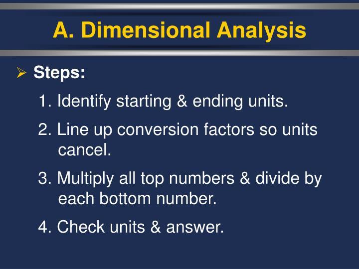 A dimensional analysis1