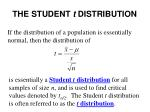 the student t distribution