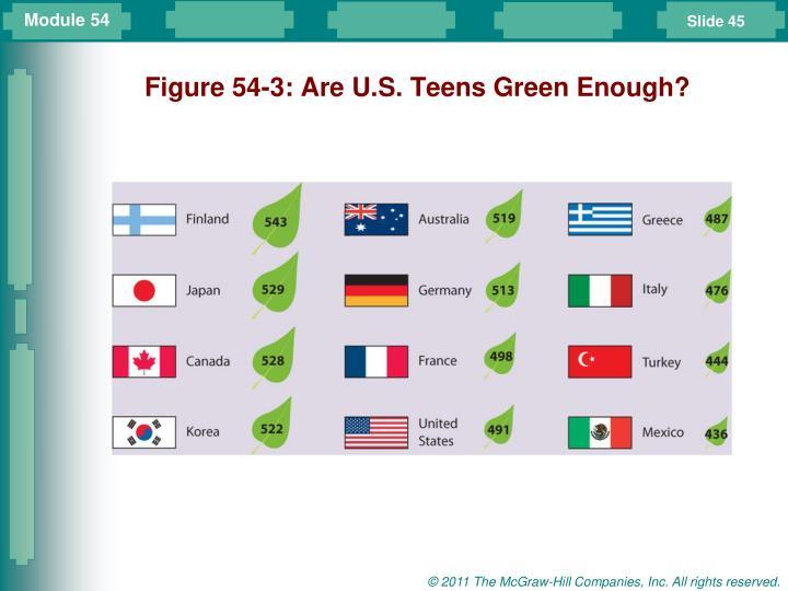 Figure 54-3: Are U.S. Teens Green Enough?