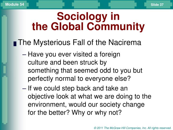 Sociology in